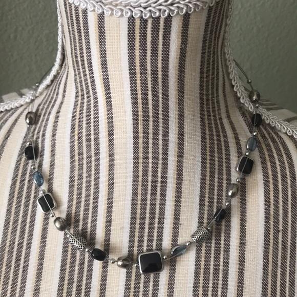 Lia Sophia Jewelry - NWOT Lia Sophia Black onyx like and silver